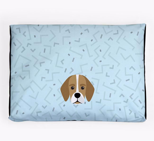 Personalised Minimal Dog Bed with Bassugg Icon