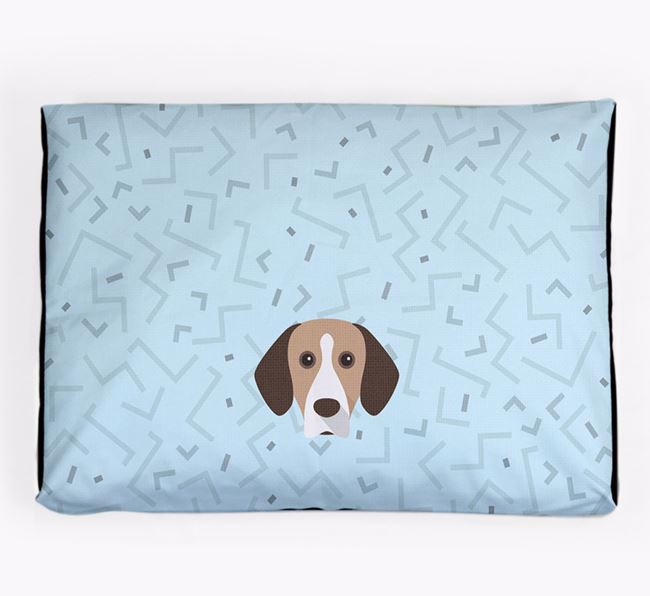 Personalised Minimal Dog Bed with Bavarian Mountain Hound Icon