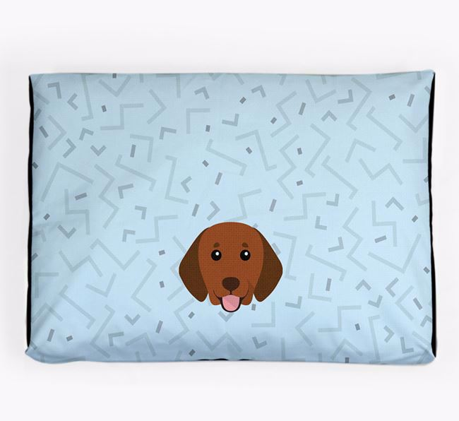 Personalised Minimal Dog Bed with Beagador Icon