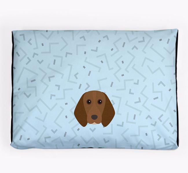 Personalised Minimal Dog Bed with Beagle Icon