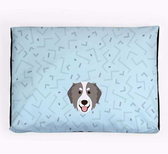 Personalised Minimal Dog Bed with Bernedoodle Icon