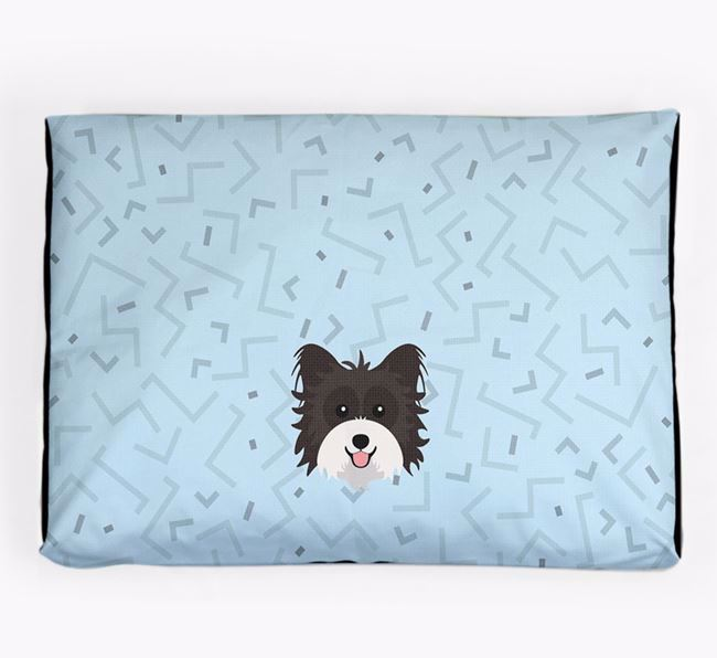Personalised Minimal Dog Bed with Biewer Terrier Icon