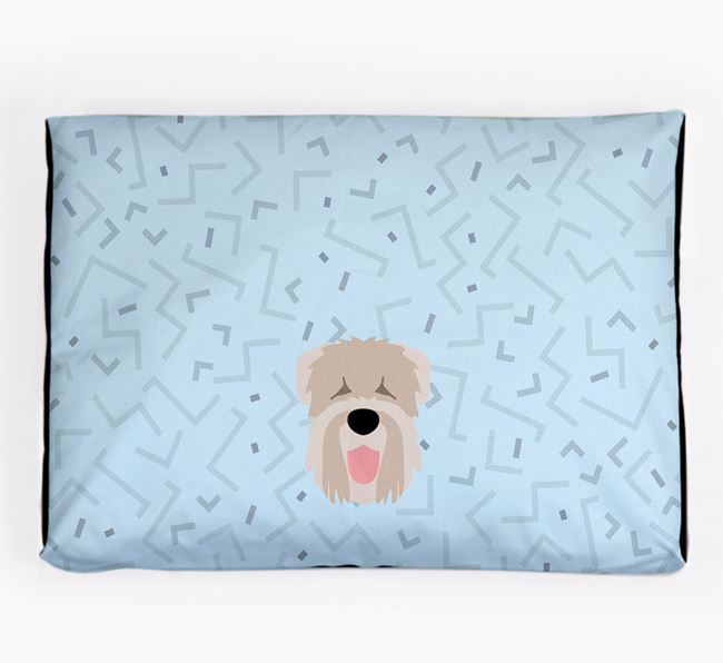 Personalised Minimal Dog Bed with Black Russian Terrier Icon