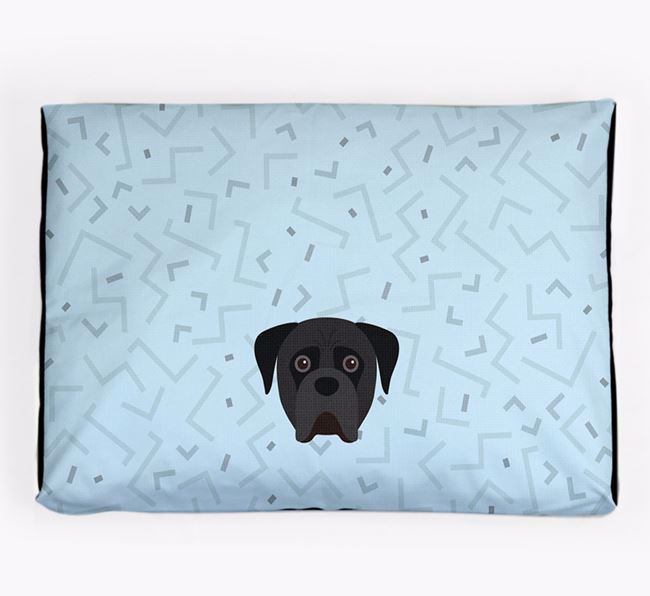 Personalised Minimal Dog Bed with Boerboel Icon
