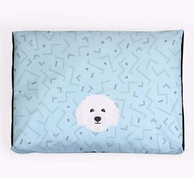 Personalised Minimal Dog Bed with Bolognese Icon
