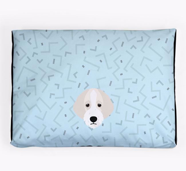 Personalised Minimal Dog Bed with Bordoodle Icon
