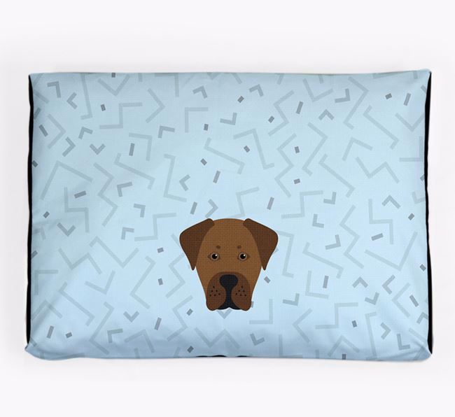 Personalised Minimal Dog Bed with Boxador Icon
