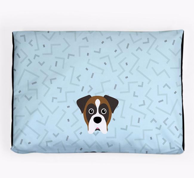 Personalised Minimal Dog Bed with Boxer Icon