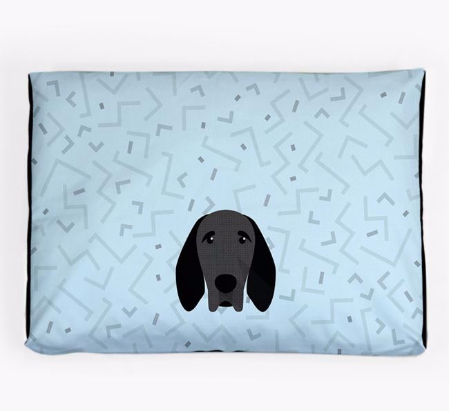Personalised Minimal Dog Bed with Braque D'Auvergne Icon