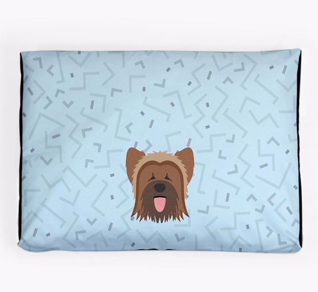 Personalised Minimal Dog Bed with Briard Icon