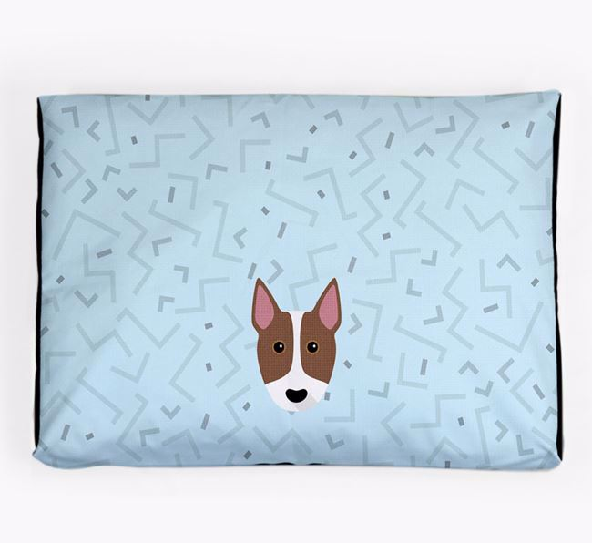 Personalised Minimal Dog Bed with Bull Terrier Icon