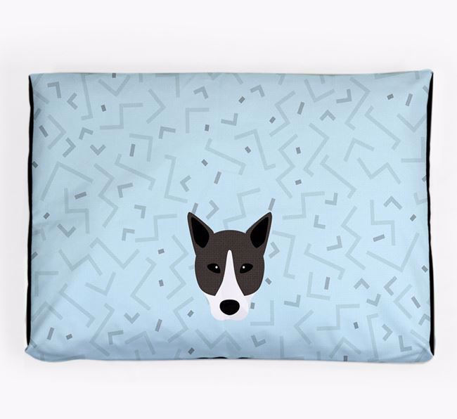 Personalised Minimal Dog Bed with Canaan Dog Icon