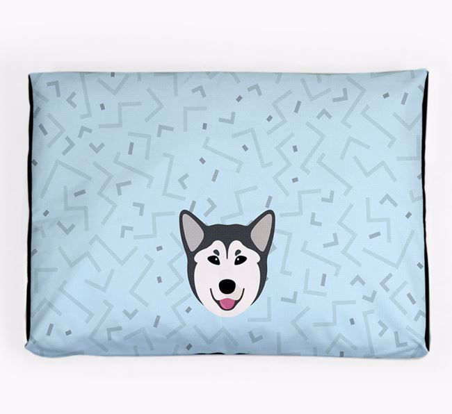 Personalised Minimal Dog Bed with Canadian Eskimo Dog Icon