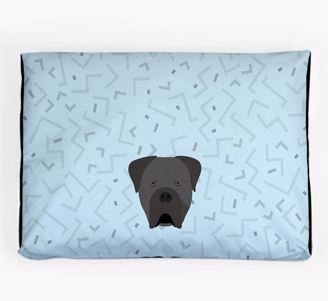 Personalised Minimal Dog Bed with Cane Corso Italiano Icon