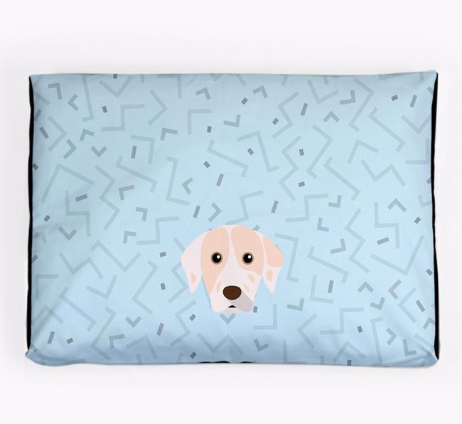 Personalised Minimal Dog Bed with Catahoula Leopard Dog Icon