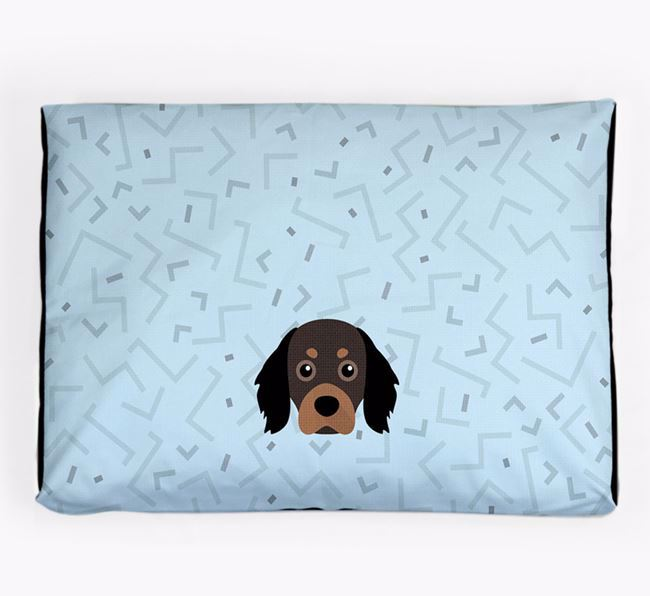 Personalised Minimal Dog Bed with Cavapom Icon