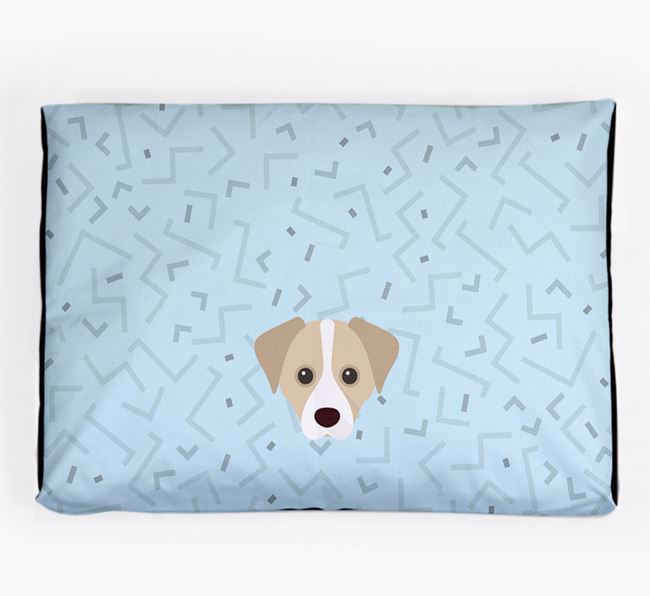 Personalised Minimal Dog Bed with Cheagle Icon