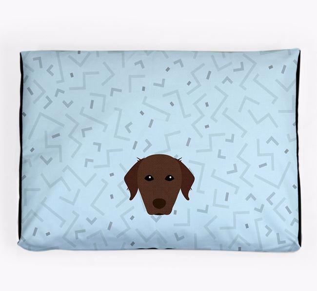 Personalised Minimal Dog Bed with Chesapeake Bay Retriever Icon