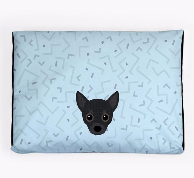 Personalised Minimal Dog Bed with Chihuahua Icon