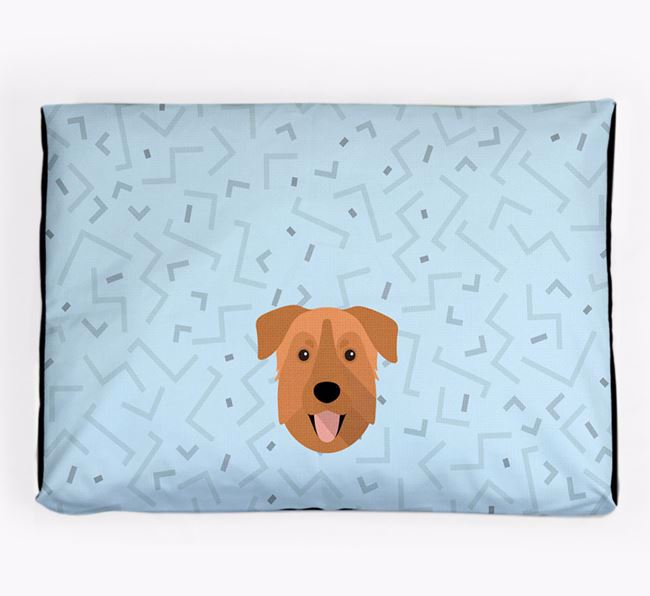 Personalised Minimal Dog Bed with Chinook Icon