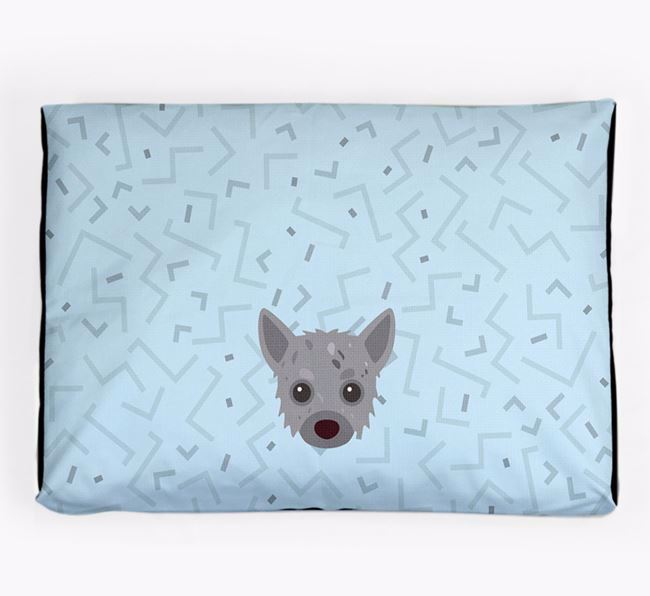 Personalised Minimal Dog Bed with Chipoo Icon