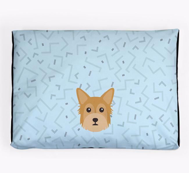 Personalised Minimal Dog Bed with Chorkie Icon
