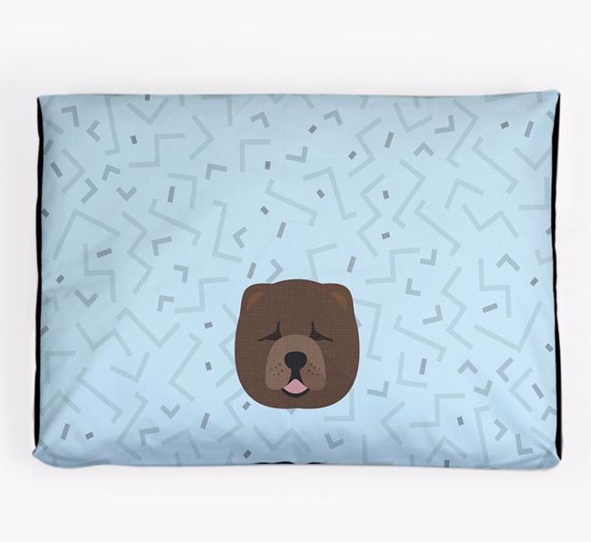 Personalised Minimal Dog Bed with Chow Chow Icon