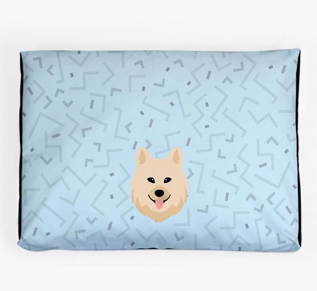 Personalised Minimal Dog Bed with Chow Shepherd Icon