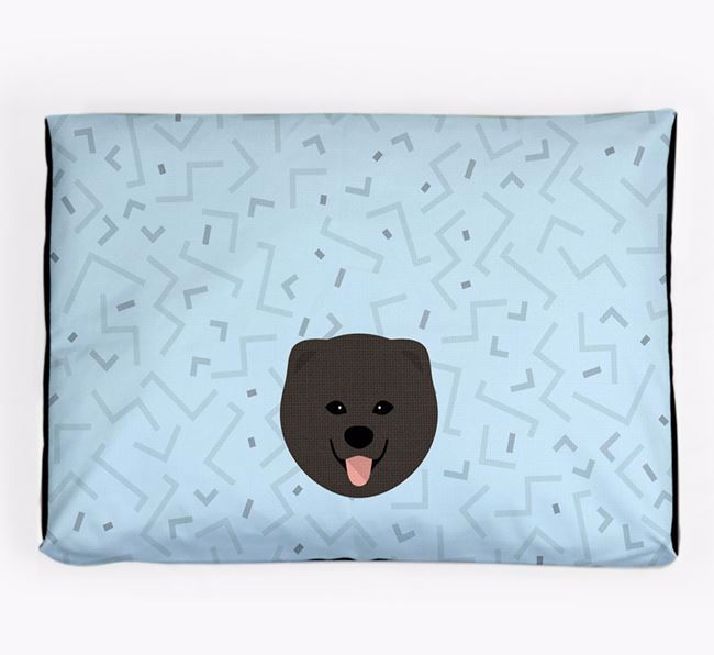 Personalised Minimal Dog Bed with Chusky Icon