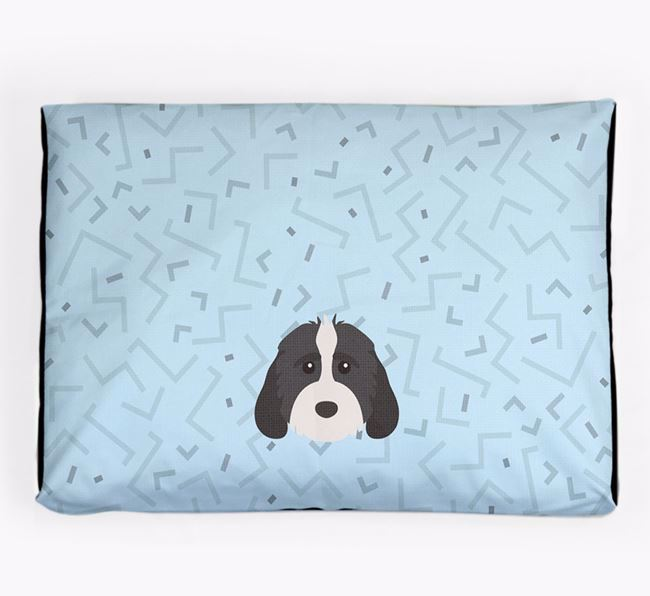Personalised Minimal Dog Bed with Cockapoo Icon