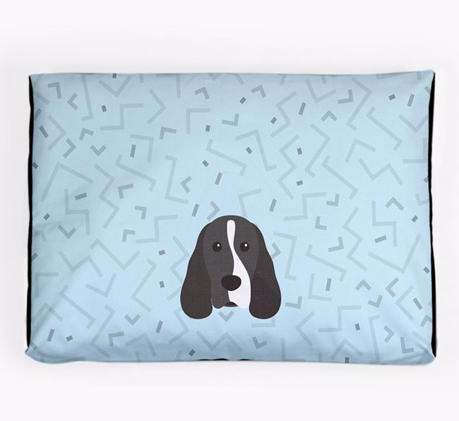 Personalised Minimal Dog Bed with Cocker Spaniel Icon