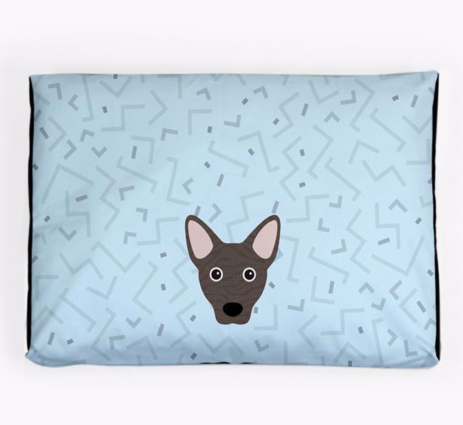 Personalised Minimal Dog Bed with Cojack Icon