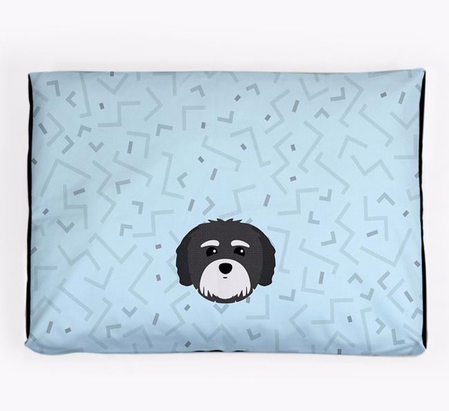 Personalised Minimal Dog Bed with Coton De Tulear Icon