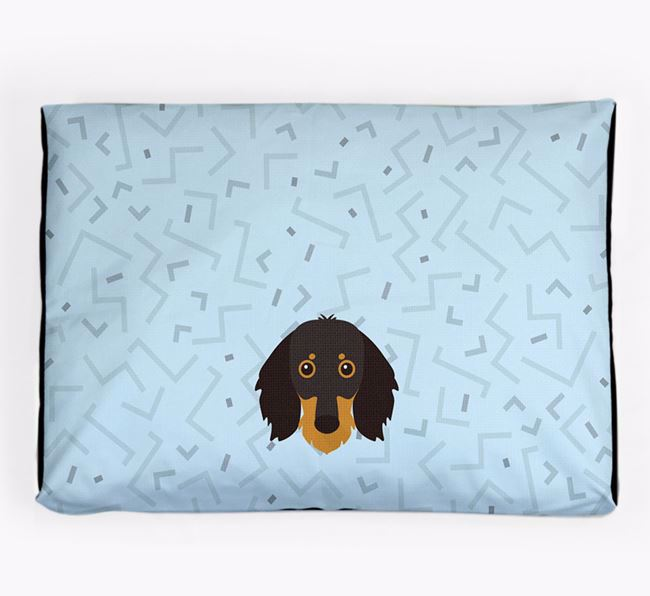 Personalised Minimal Dog Bed with Dachshund Icon