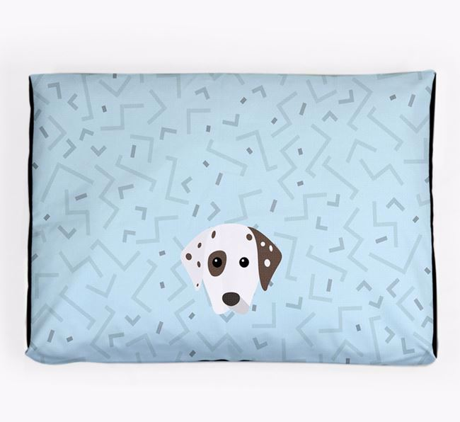 Personalised Minimal Dog Bed with Dalmatian Icon