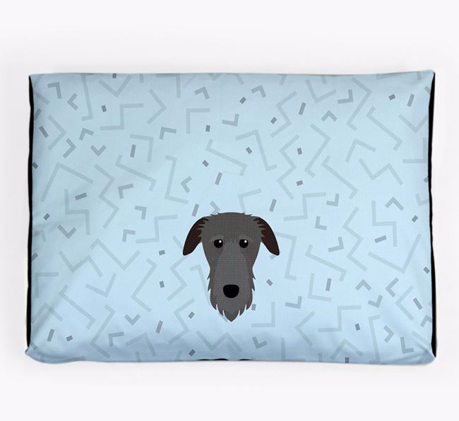 Personalised Minimal Dog Bed with Deerhound Icon
