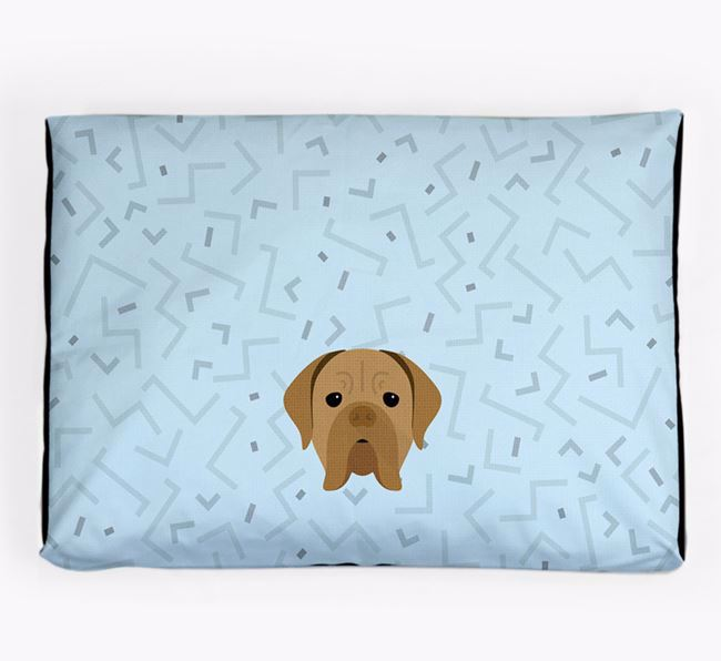 Personalised Minimal Dog Bed with Dogue de Bordeaux Icon