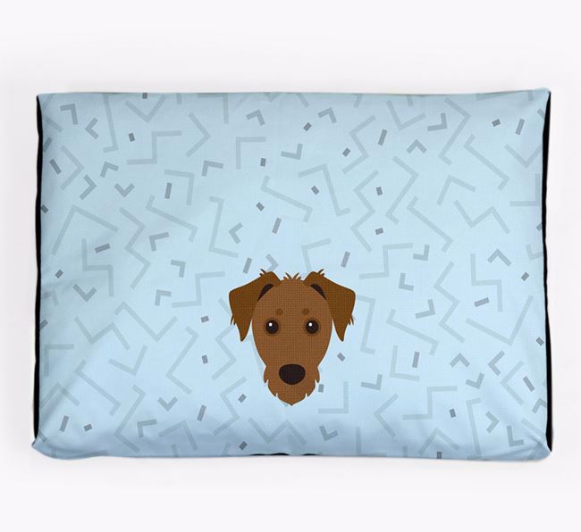 Personalised Minimal Dog Bed with Dorkie Icon