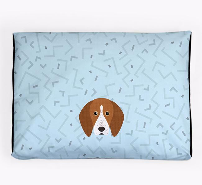 Personalised Minimal Dog Bed with English Coonhound Icon