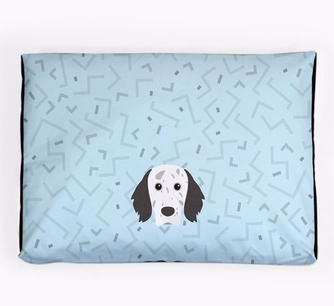 Personalised Minimal Dog Bed with English Setter Icon