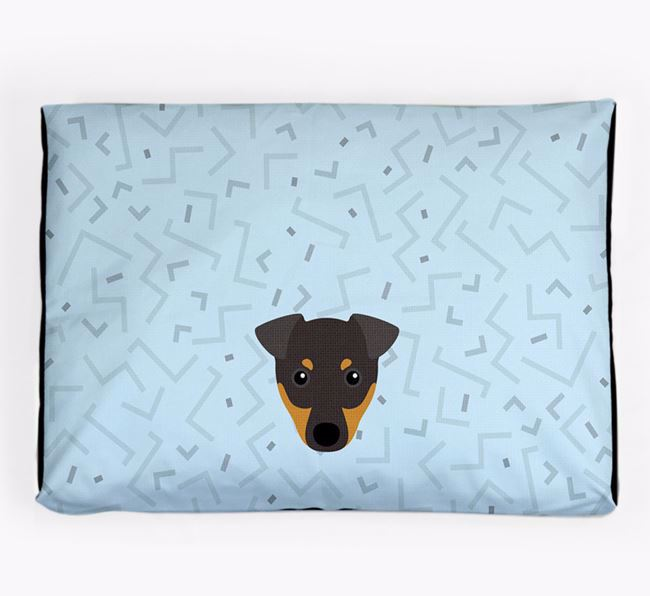 Personalised Minimal Dog Bed with English Toy Terrier Icon