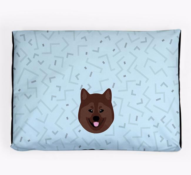 Personalised Minimal Dog Bed with Eurasier Icon