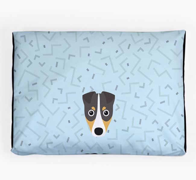 Personalised Minimal Dog Bed with Fox Terrier Icon