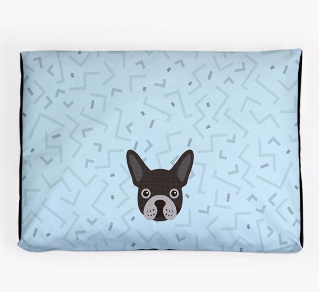 Personalised Minimal Dog Bed with French Bulldog Icon