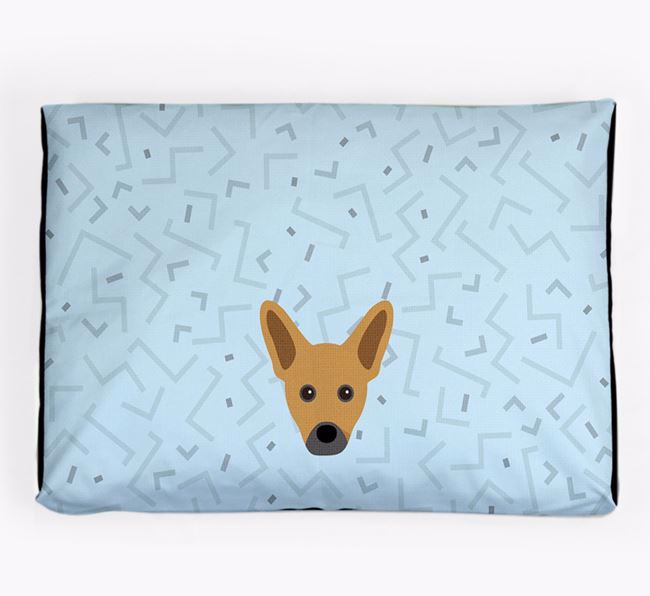 Personalised Minimal Dog Bed with French Pin Icon