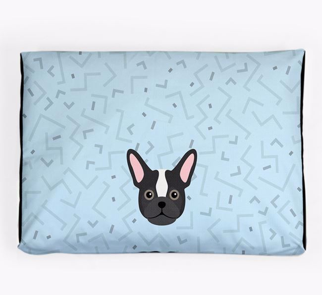 Personalised Minimal Dog Bed with Frug Icon