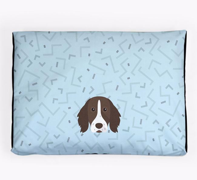 Personalised Minimal Dog Bed with German Longhaired Pointer Icon