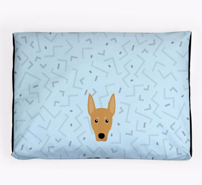 Personalised Minimal Dog Bed with German Pinscher Icon