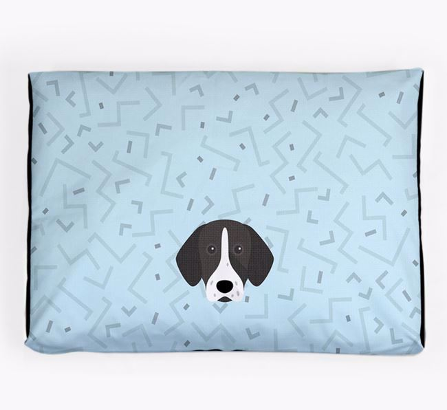 Personalised Minimal Dog Bed with German Shorthaired Pointer Icon