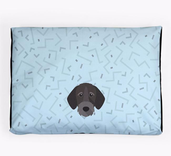 Personalised Minimal Dog Bed with German Wirehaired Pointer Icon